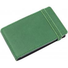 Візитниця на 20 візиток Optima Vivella кишенькова на резинці зелена O51615-04