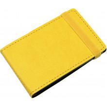 Візитниця на 20 візиток Optima Vivella кишенькова на резинці жовта O51615-05