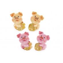 Фигурка декоративная Символ года 2019-Свинка с монетками 6 см, 4 вида (4) №519-155 Bonadi