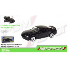 "Машина метал. ""Автопром"" Ford Mustang GT(matte black series),1:43,в кор-ці №7611(48)(96)КІ"