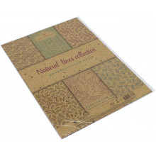 Набор бумаги дизайнерской А4 7 листов крафт Линии природы Подолье (1) (360) №18544