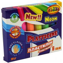Пластилін 6 кольорів 100гр Class Neon (60) №7630