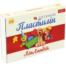 Пластилін 6 кольорів 110 гр Ліпландія/Пластіленд Тетрада (21) 461374/461341