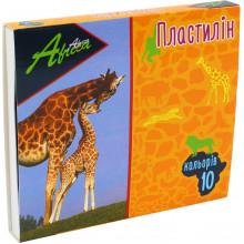 Пластилин 10 цветов 200 гр Economix Africa (24) №E60607