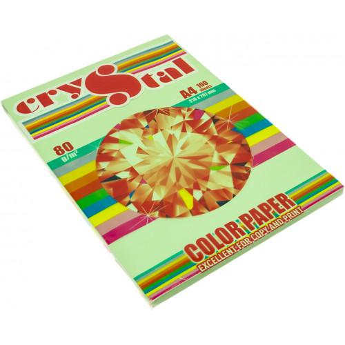 Папір кольоровий А4 80г/м2 пастель Spectra Сolor Green 190 зелений (100)