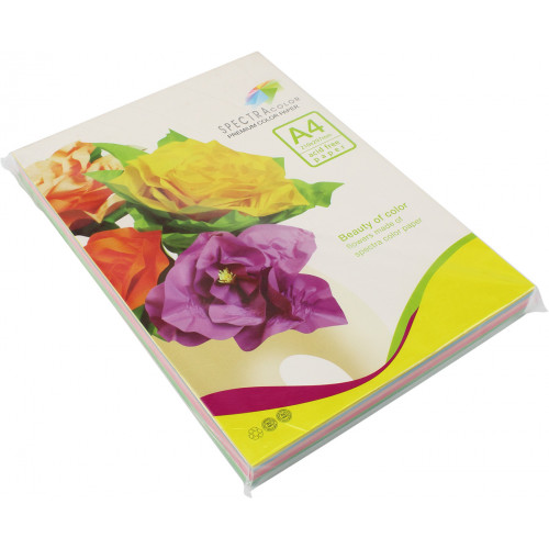 Папір кольоровий А4 80г/м2 пастель 5х50 Spectra Color-Rainbow Pack Light IT 82 Т 250 шт (10)