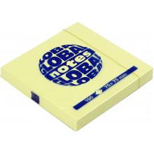 Блок для заметок с липким слоем 75х75мм 100 листов yellow GN Global Notes (12) №3654-01