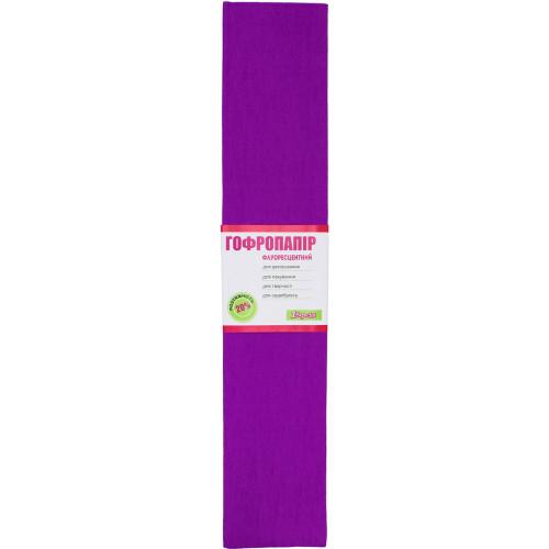 Папір гофра 2мх50см 20% 1 Вересня флуоресцентний фіолетовий (10) 705406