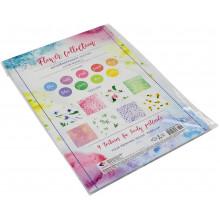 Картон дизайнерский А4 9 листов Подолье Цветочная коллекция (10) (200) №18468