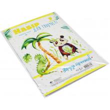 Картон дизайнерский А4 9 листов Подолье Друзья тропиков (1) (200) №18469