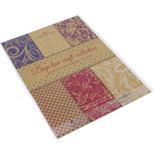 Набір паперу дизайнерський А4 7 листів Глибока любов (10) (360) 17459 Поділля