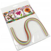 Бумага для квиллинга №16 Рюкзачок 7х420мм 10 цветов 100 полосок (15) №УП-71