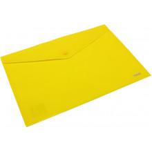 Папка-конверт Axent А4 на кнопці жовта (12) (240) (480) №1412-26