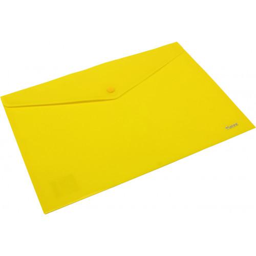 Папка-конверт Axent А4 на кнопці жовта (12) (240) (480) 1412-26