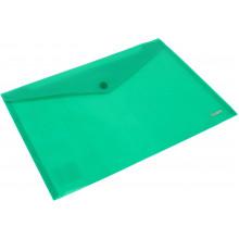 Папка-конверт Axent А4 на кнопці зелена (12) (240) (480) №1412-25