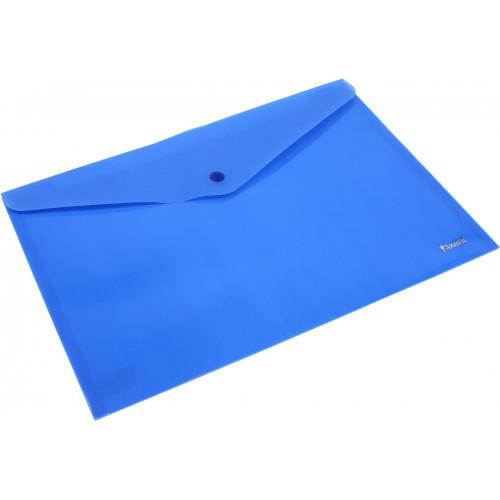 Папка-конверт Axent А4 на кнопці синя (12) (240) (480) 1412-22
