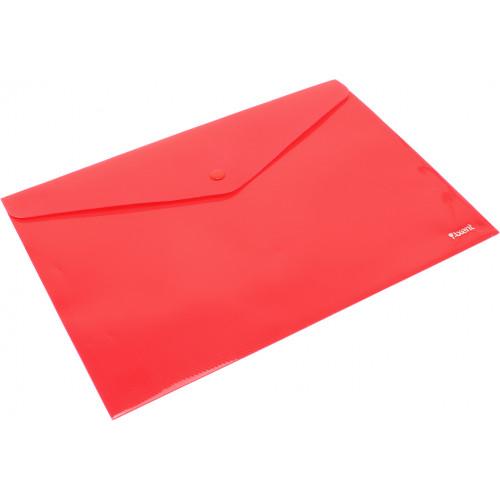 Папка-конверт Axent А4 на кнопці червона (12) (240) (480) 1412-24