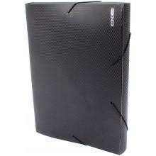 Папка-бокс Economix А4 40мм пластиковая на резинке черная (1) (20) №E31402-01