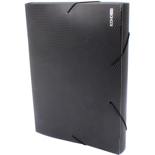 Папка-бокс Economix А4 40мм пластикова на резинці чорна (1) (20) E31402-01
