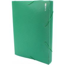 Папка-бокс Economix А4 40мм пластиковая на резинке зеленая (1) №E31402-04