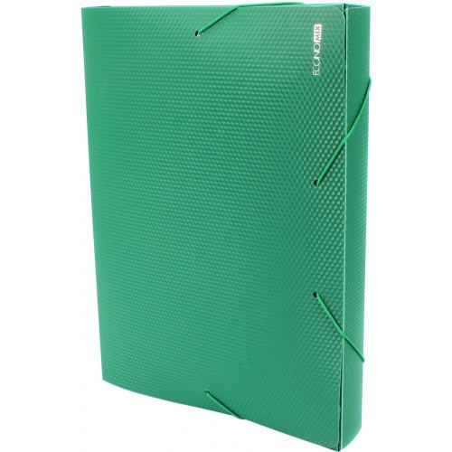 Папка-бокс Economix А4 40мм пластикова на резинці зелена (1) E31402-04