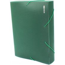 Папка-бокс Economix А4 60мм пластиковая на резинке зеленая (1) №E31405-04