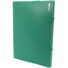 Папка-бокс Economix А4 20 мм пластиковая на резинке зеленая (1) (20) №E31401-04