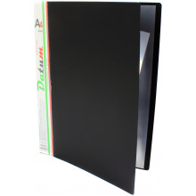 Папка с 10-ю файлами А4 Datum черная (36) (216) №D1810/F10AK/490218