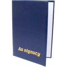 Папка К подписи Винпап A4 с тиснением синяя (1) (10)