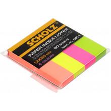 Стікери-закладки Scholz 12х50мм 5 неонових кольорів 50 аркушів (6) (48) 8071
