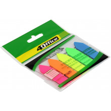 Разделитель страниц 4 Office Стрела PP 5 цветов по 20 листов 12х44 мм №4-426