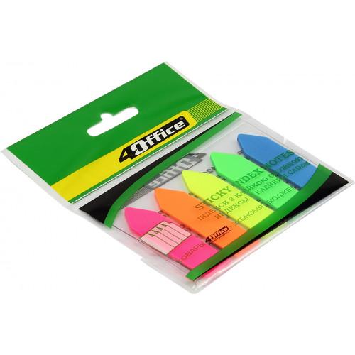 Розділювач сторінок 4 Office Стріла PP 5 кольорів по 20 аркушів 12х44 мм 4-426