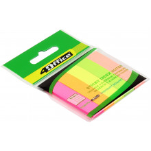 Розділювач сторінок 4 Office паперовий 5 кольорів по 30 аркушів 12х50 мм 4-428