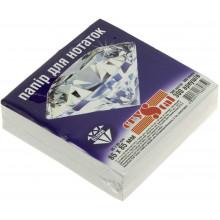 Блок для заміток неклеєний 85х85 мм 300 аркушів білий Crystal (40) 0759
