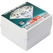 Блок для заміток неклеєний 90х90мм 900 аркушів білий Crystal (16) 0858