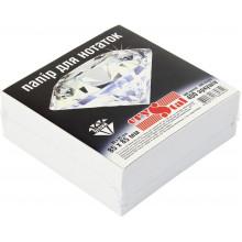 Блок для заміток неклеєний 85х85мм 400 аркушів білий Crystal (40) 0629