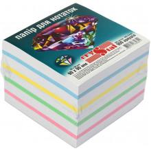 Блок для заміток неклеєний 90х90мм 900 аркушів мікс, 5 кольорів Crystal (16) 0841