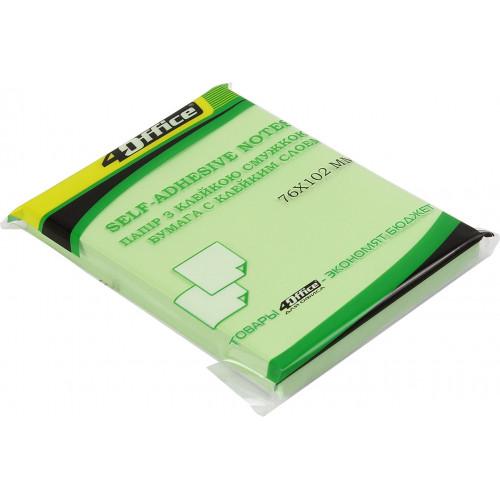 Блок для заміток з липким шаром 76х102мм 4Office 100 аркушів асорті (12) 4-425