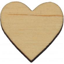 Серце 2,5х3 см фанера (10)