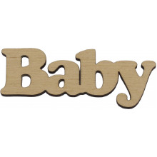Заготовка фанера надпись Baby 8 см (5)