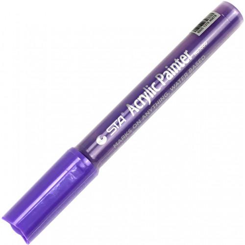 Маркер акриловий STA 2-3 мм світло-фіолетовий (10) №1000-R826