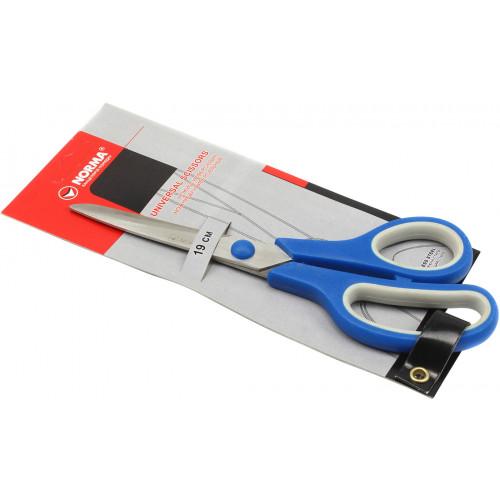"""Ножиці офісні """"Norma"""" 19 см прорезинені ручки №4220/04040110"""