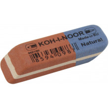 Ластик Koh-i-noor Blue Star красно-синий (84) (672) №6521/80