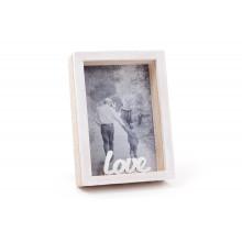 """Фоторамка деревянная """"Love"""" объемная 9 х13 см (22) №493-580 / Bonadi /"""