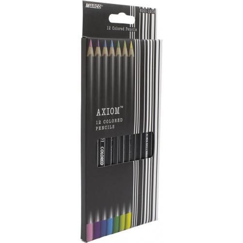 Олівці кольорові Marco 12 кольорів Axiom (12) 8101-12 CB