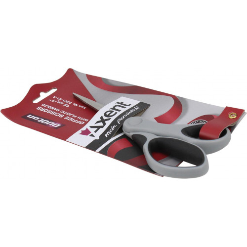 Ножиці офісні Axent Duoton 18см сіро-чорні (10) (200) №6301-01