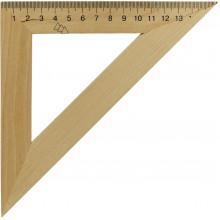 Треугольник деревянный 16см 45х45 (25) (50) №0335