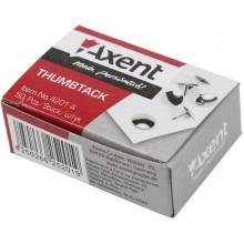 Кнопки Axent никелированные 50 шт (20) (1000) №4201