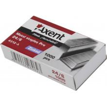 Скоби 24/6 Axent Pro 1000 шт (20) (500) 4312