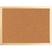 Доска Axent пробковая, деревянная рамка, 60х90 см №9602
